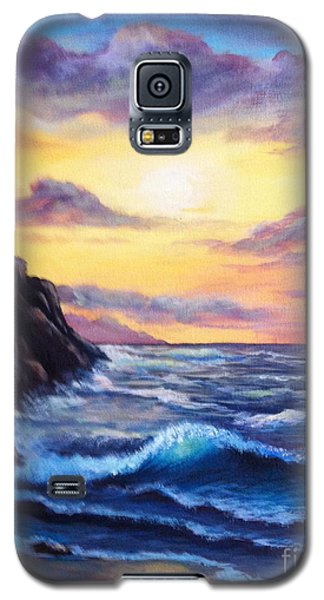 Galaxy S5 Case featuring the painting Sunset In Colors by Bozena Zajaczkowska