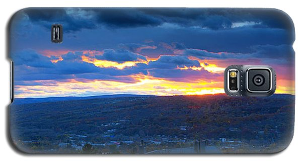 Sunset In Ithaca New York Panoramic Photography Galaxy S5 Case