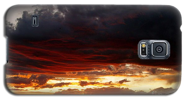 Sunset In Red Galaxy S5 Case