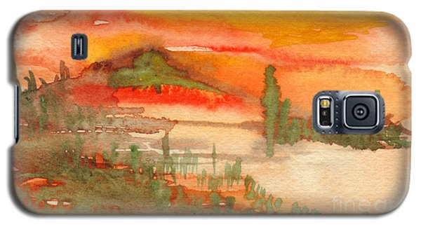 Sunset In Saguaro Desert  Galaxy S5 Case