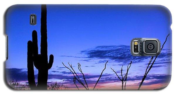 Sunset In Saguaro National Park Galaxy S5 Case by Elizabeth Budd
