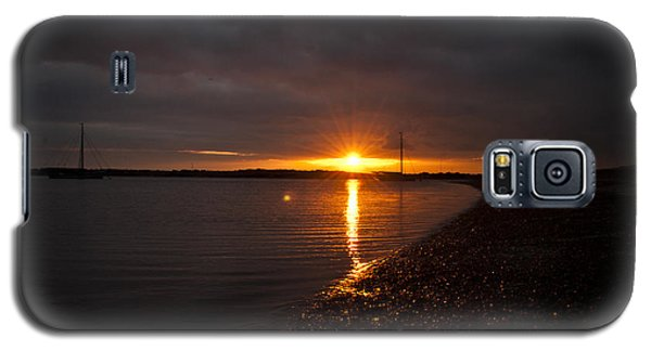 Galaxy S5 Case featuring the photograph Sunset In West Mersea by David Isaacson