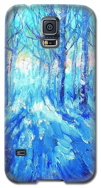 Sunset In A Winter Wood  Galaxy S5 Case