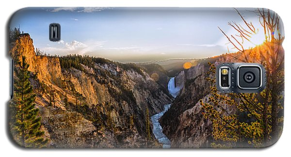 Sunset In Yellowstone Grand Canyon Galaxy S5 Case