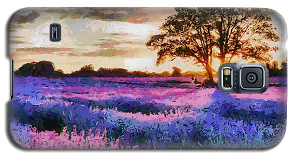 Sunset Lavender Field Galaxy S5 Case by Georgi Dimitrov