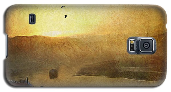 Sunset Low Tide Cape Neddick River Galaxy S5 Case by Ann Tracy
