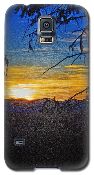 Galaxy S5 Case featuring the photograph Sunset Mountain To Mountain by Janie Johnson