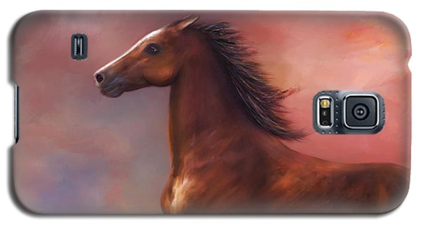 Sunset Mustang Galaxy S5 Case by Kari Nanstad