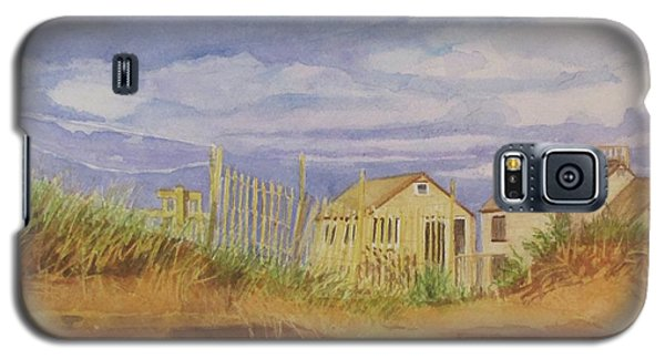 Galaxy S5 Case featuring the painting Sunset Nantucket Beach by Carol Flagg
