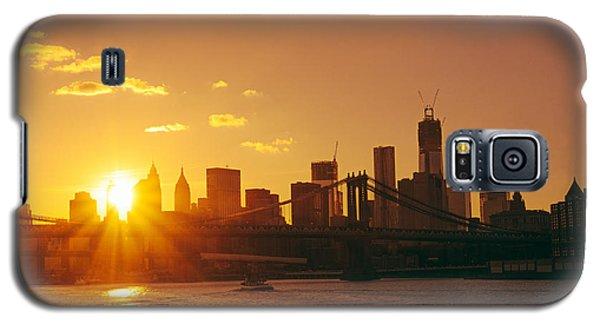City Sunset Galaxy S5 Case - Sunset - New York City by Vivienne Gucwa