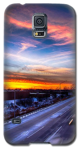 Sunset North Of Chicago 12-12-13 Galaxy S5 Case by Michael  Bennett
