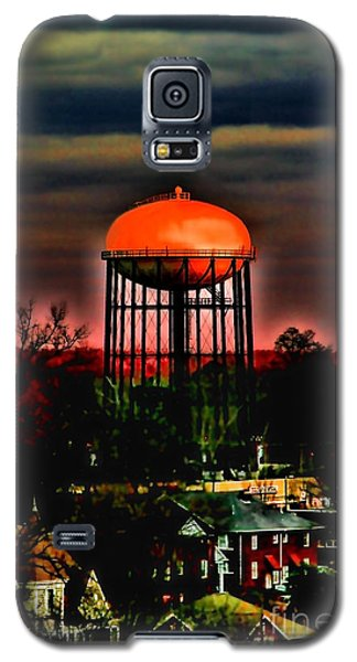 Sunset On A Charlotte Water Tower By Diana Sainz Galaxy S5 Case
