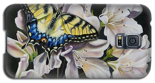 Galaxy S5 Case featuring the painting Sunset On A Swallowtail by Phyllis Beiser