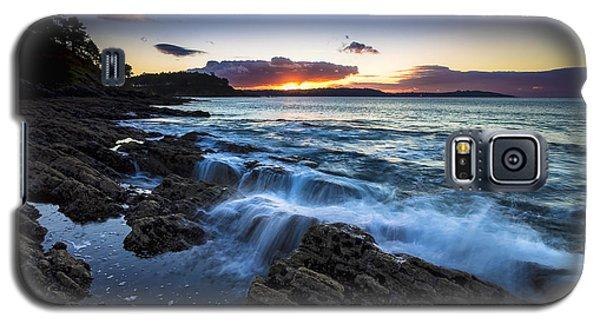 Sunset On Ber Beach Galicia Spain Galaxy S5 Case
