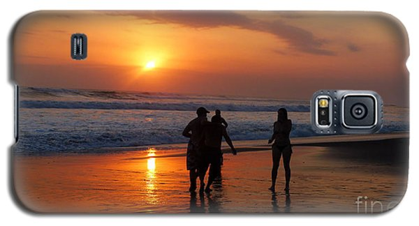 Sunset On Black Sand Beach Bali  Galaxy S5 Case