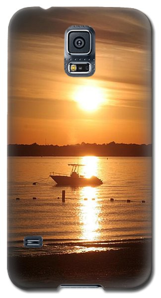 Galaxy S5 Case featuring the photograph Sunset On Boat by Karen Silvestri