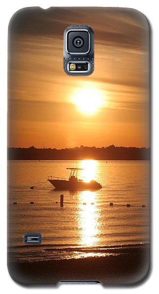 Sunset On Boat Galaxy S5 Case