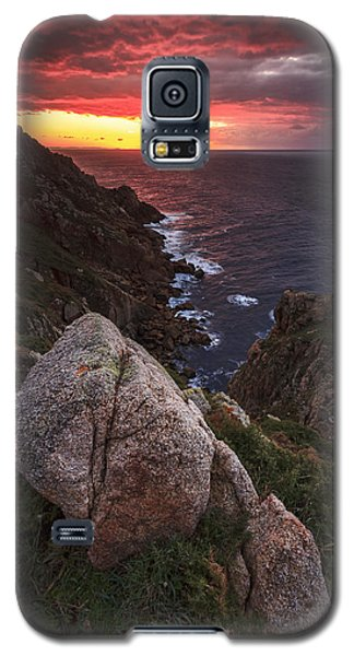 Sunset On Cape Prior Galicia Spain Galaxy S5 Case