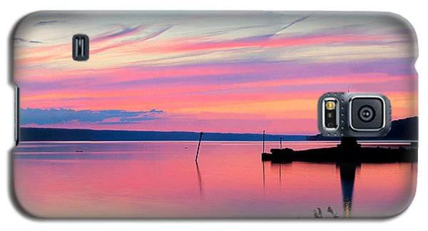 Sunset On Cayuga Lake Ithaca New York Galaxy S5 Case