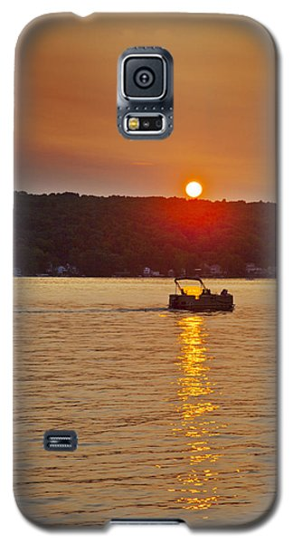 Boating Into The Sunset Galaxy S5 Case by Richard Engelbrecht