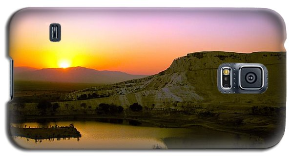 Galaxy S5 Case featuring the photograph Sunset On Cotton Castles by Zafer Gurel
