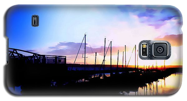 Galaxy S5 Case featuring the photograph Sunset On Edmonds Washington Boat Marina by Eddie Eastwood