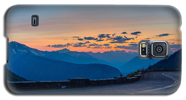 Sunset On Going-to-the-sun Road Galaxy S5 Case
