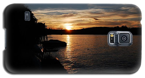 Galaxy S5 Case featuring the photograph Sunset On Halfmoon by Mim White