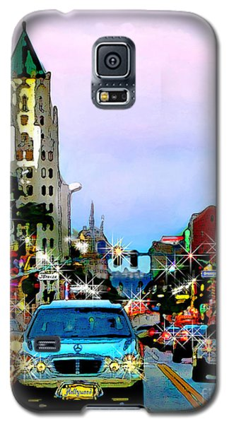Galaxy S5 Case featuring the digital art Sunset On Hollywood Blvd by Jennie Breeze