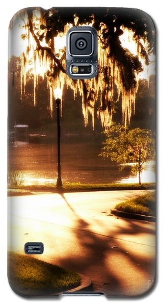Galaxy S5 Case featuring the digital art Sunset On Lake Mizell by Valerie Reeves