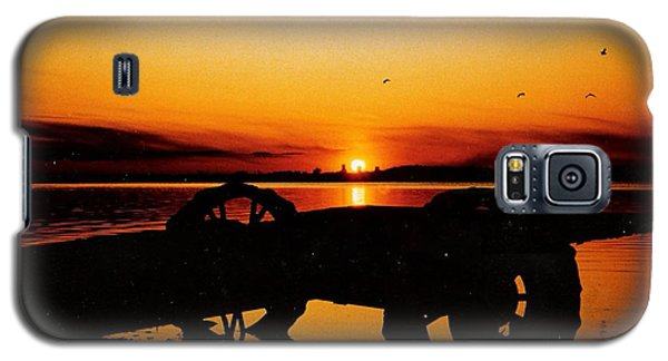 Sunset On Lake Wahtoponek Galaxy S5 Case