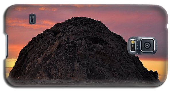 Galaxy S5 Case featuring the photograph Sunset On Morro Rock by AJ  Schibig