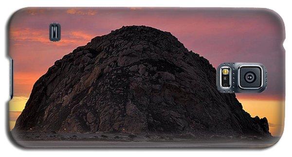 Sunset On Morro Rock Galaxy S5 Case by AJ  Schibig