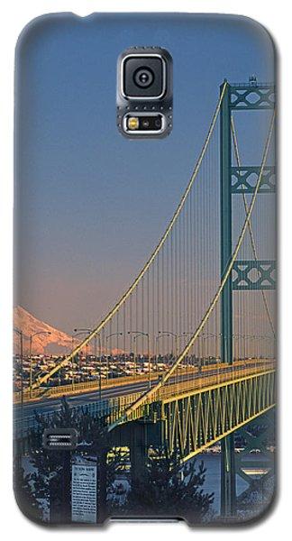 1a4y20-v-sunset On Rainier With The Tacoma Narrows Bridge Galaxy S5 Case