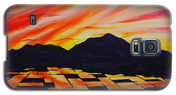 Sunset On Rice Fields Galaxy S5 Case by Michele Myers