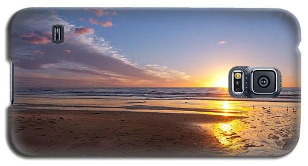Sunset On The Beach At Carlsbad. Galaxy S5 Case