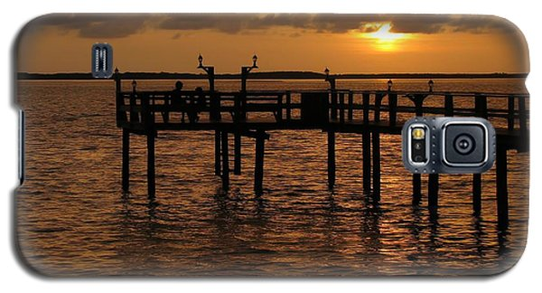 Sunset On The Dock Galaxy S5 Case by Peggy Hughes