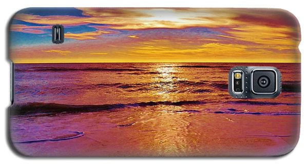 Sunset On The Gulf Galaxy S5 Case by Judy Via-Wolff