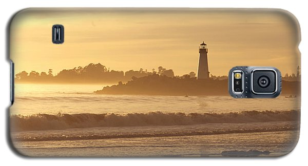 Sunset On The Lighthouse In Santa Cruz Harbor Galaxy S5 Case by Artist and Photographer Laura Wrede