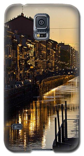Sunset On The Navigli In Milan Galaxy S5 Case