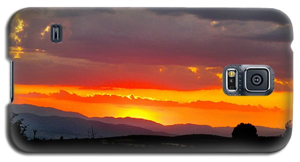 Sunset On The Road Galaxy S5 Case