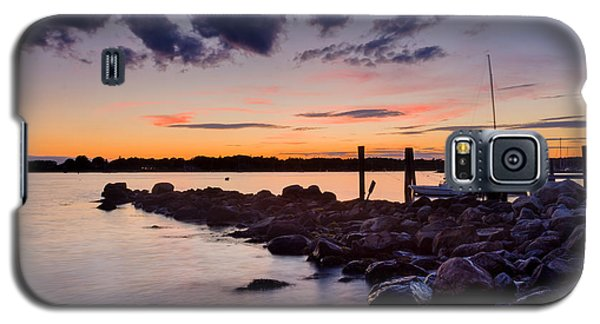 Sunset On The Rocks - Stonington Point Galaxy S5 Case