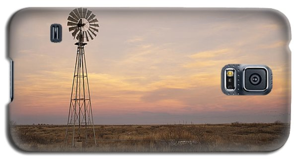 Sunset On The Texas Plains Galaxy S5 Case by Melany Sarafis