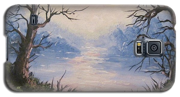 Galaxy S5 Case featuring the painting Sunset On Water by Megan Walsh