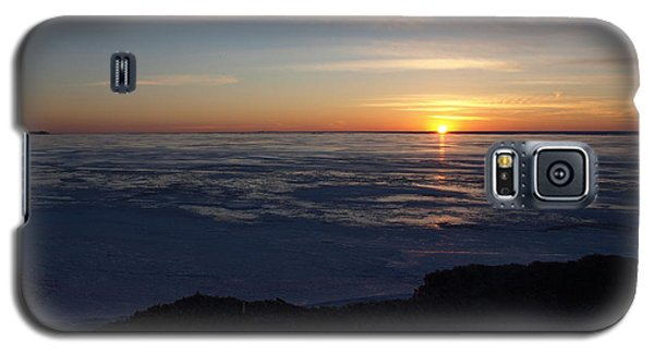 Sunset Over A Frozen Lake Erie - 1 Galaxy S5 Case