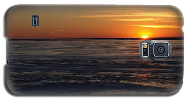 Sunset Over A Frozen Lake Erie - 3 Galaxy S5 Case