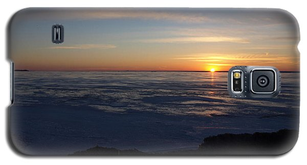 Sunset Over A Frozen Lake Erie - 4 Galaxy S5 Case