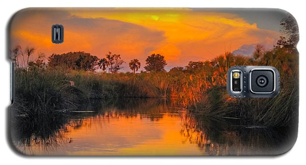 Sunset Over Camp Sandibe Galaxy S5 Case