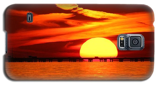 Sunset Over Causeway Galaxy S5 Case by Luana K Perez