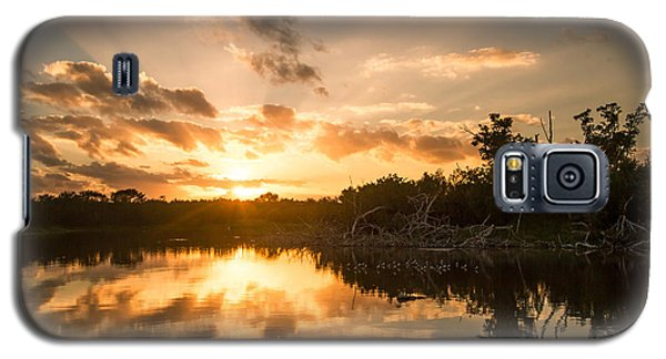 Sunset Over Eco Pond Galaxy S5 Case by Doug McPherson